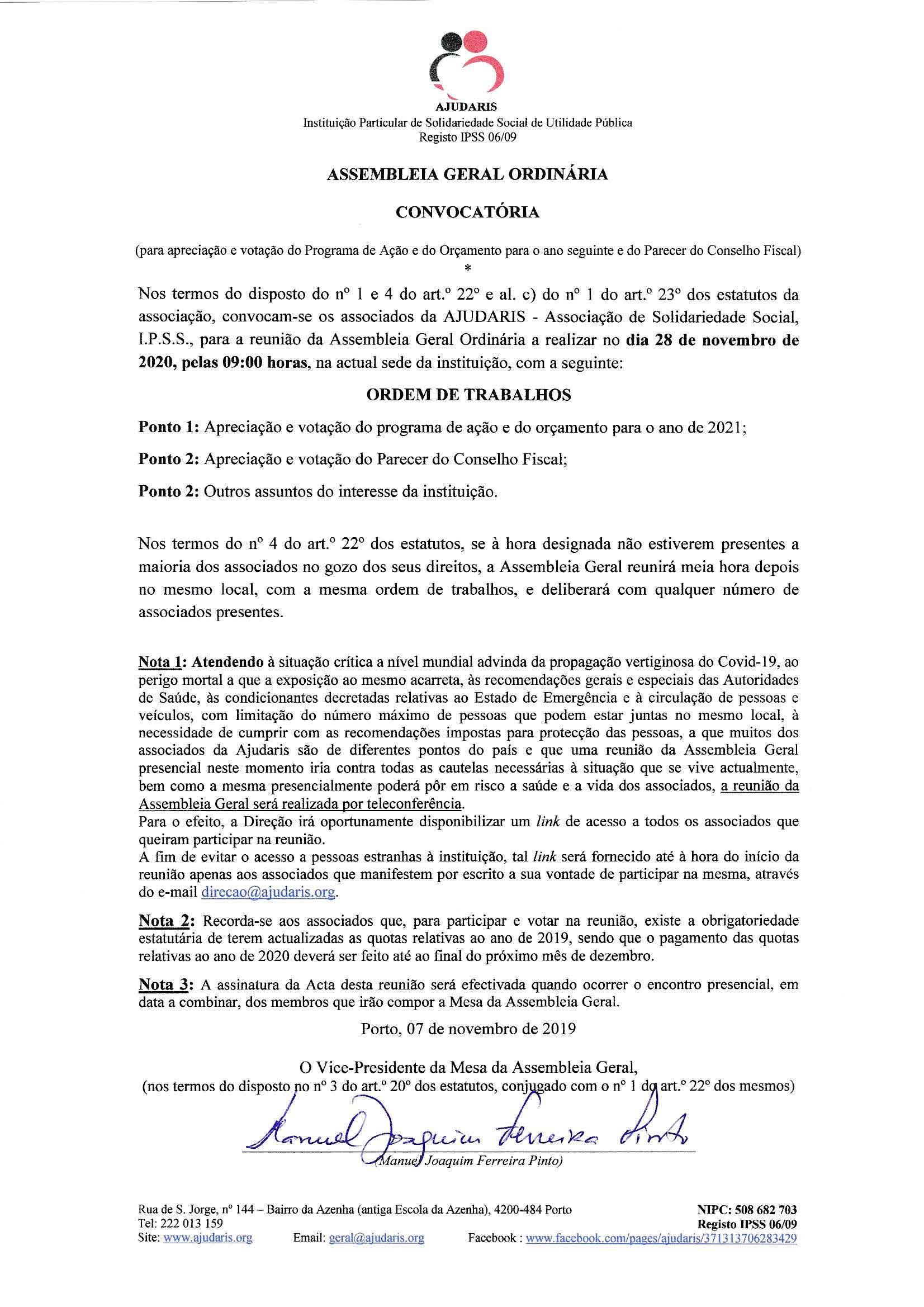 20201128-AG_Convocatória_Reunião_Ordinária-Programa_de_Acção_para_2021